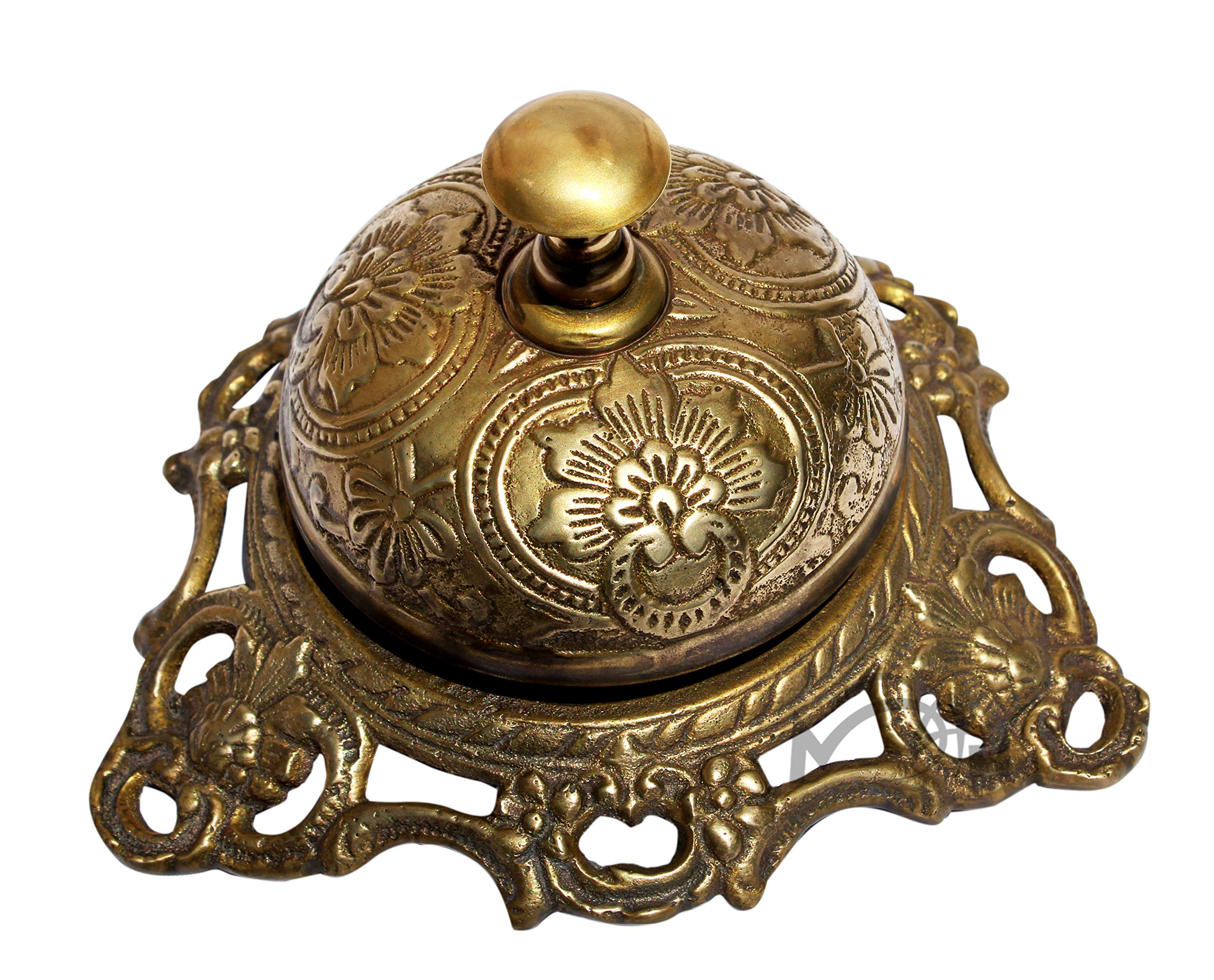 MAH Solid Brass Hotel Counter Bell, Best Easter, Birthday, Mothers Day, Fathers Day, Graduation Gift, Wedding Gifts. C-3074
