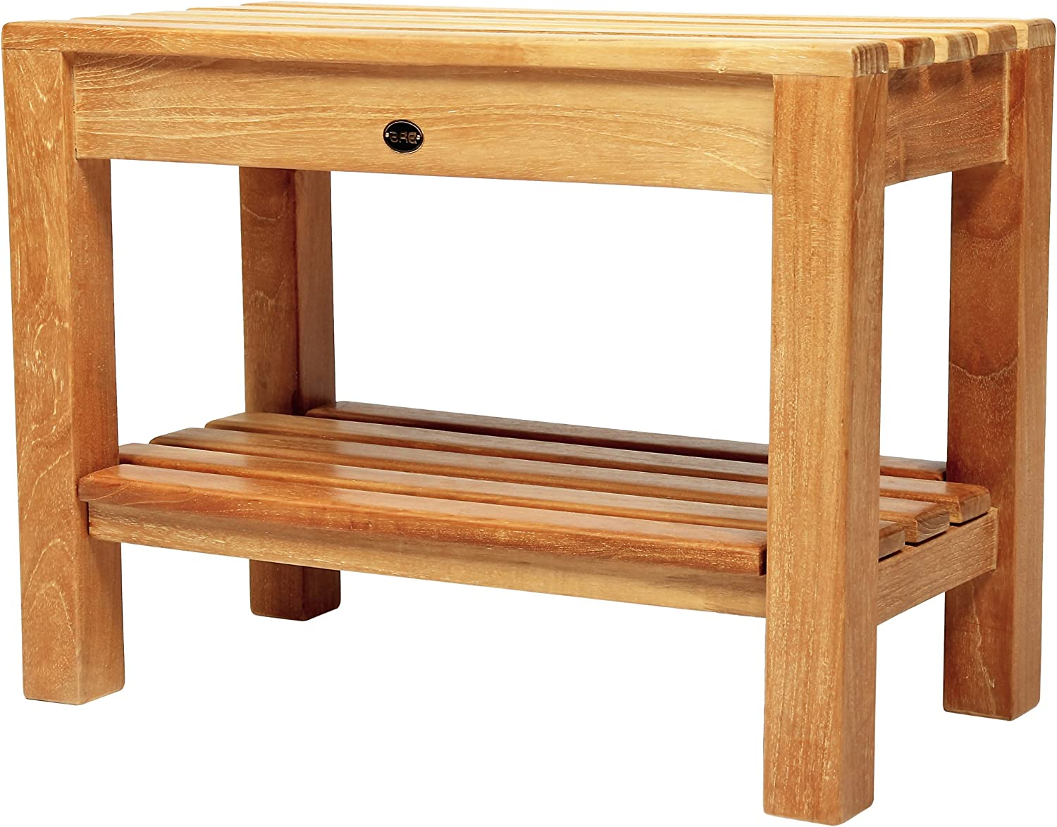 Arb Teak & Specialties Coach Teak Shower Bench with Shelf, 23.5 Inch 910ZDKciyRL