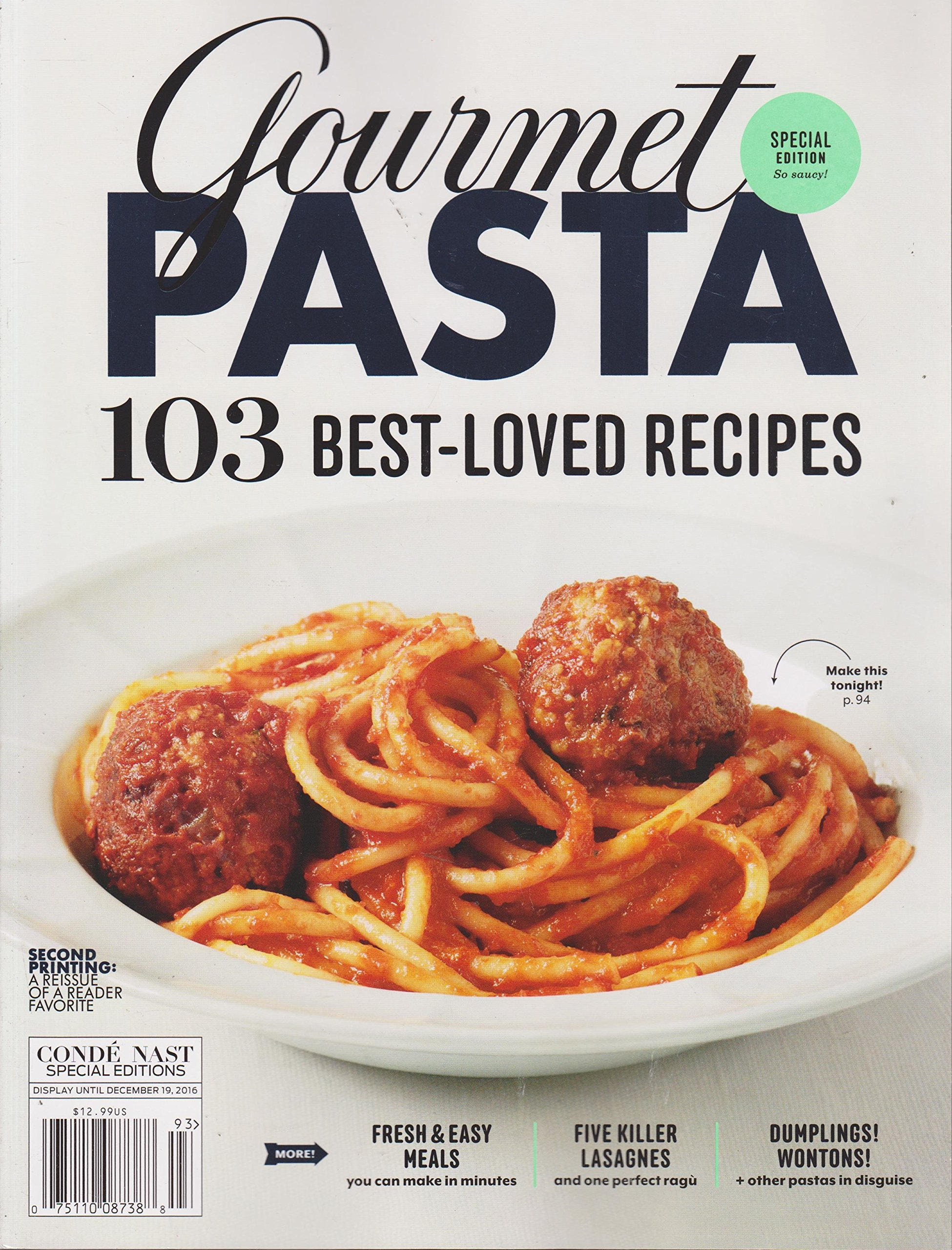 Download Gourmet Pasta Magazine 103 Best-Loved Recipes Fall 2016 ebook
