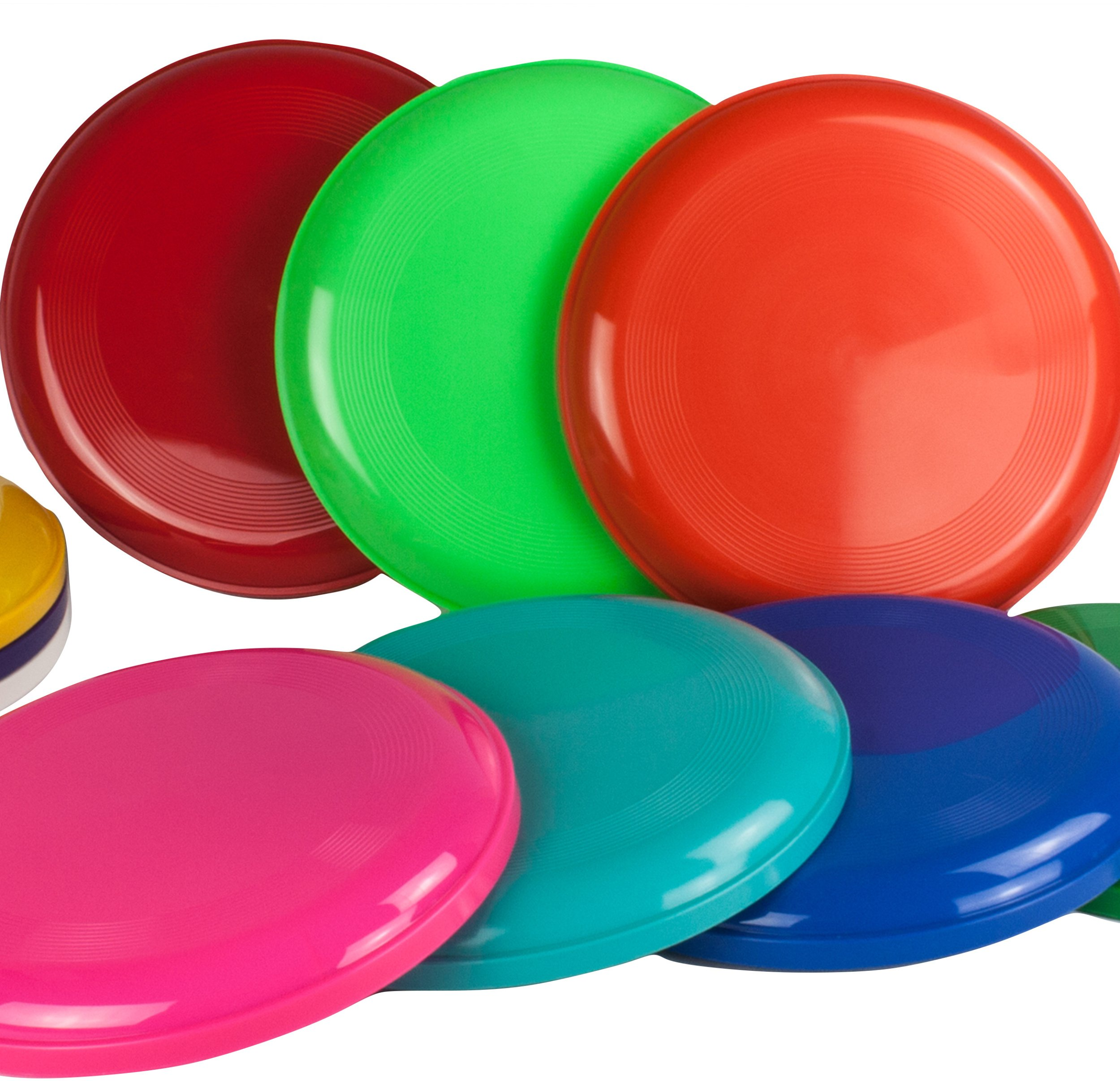 10 Frisbee, Flying Disc in 10 various colors, Frisbees colourful mixed and sold by SchwabMarken by SchwabMarken