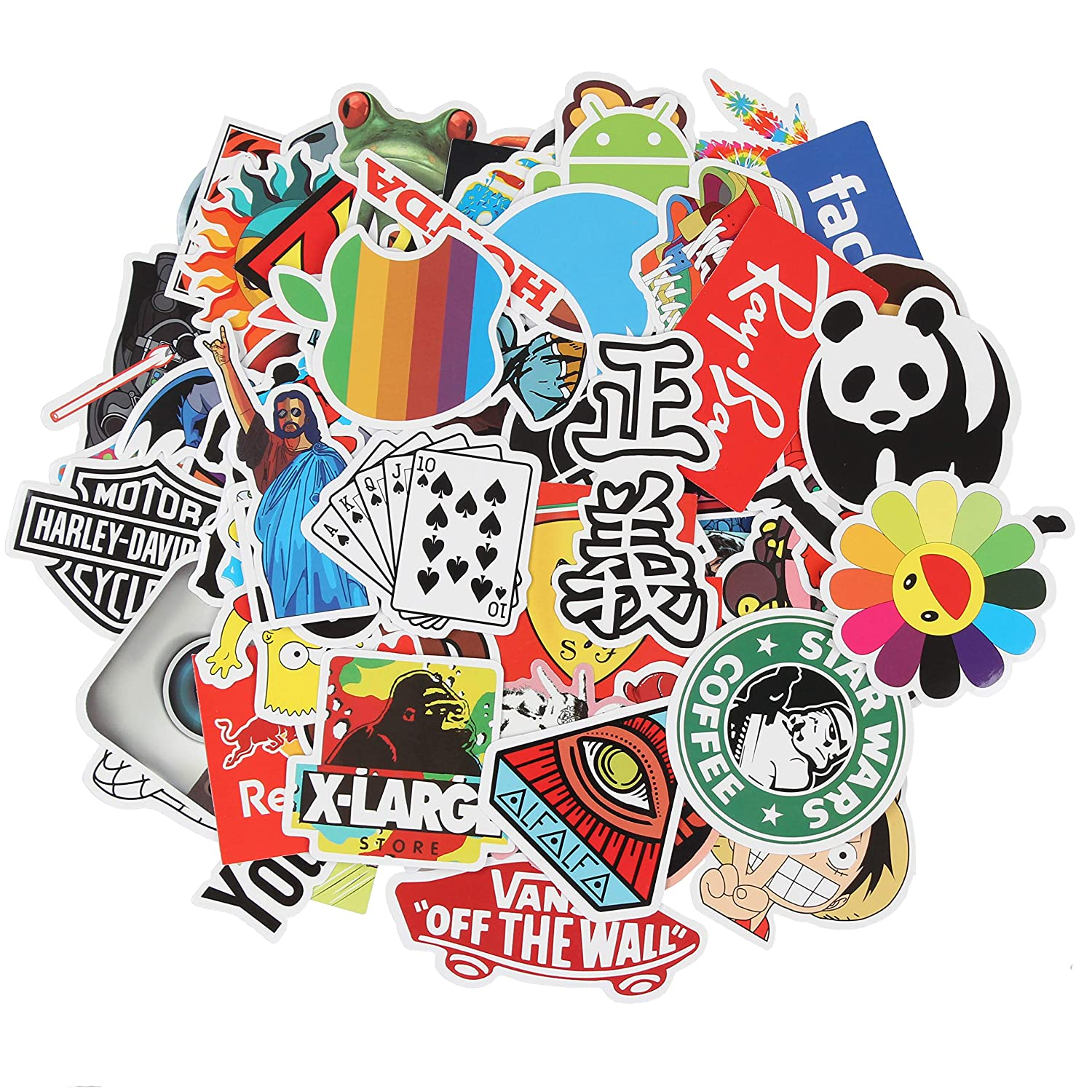 Sticker decals waterproof 100 pcs cool sticker pack laptop vinyl stickers ccar sticker for snowboard motorcycle bicycle phone mac computer diy car window