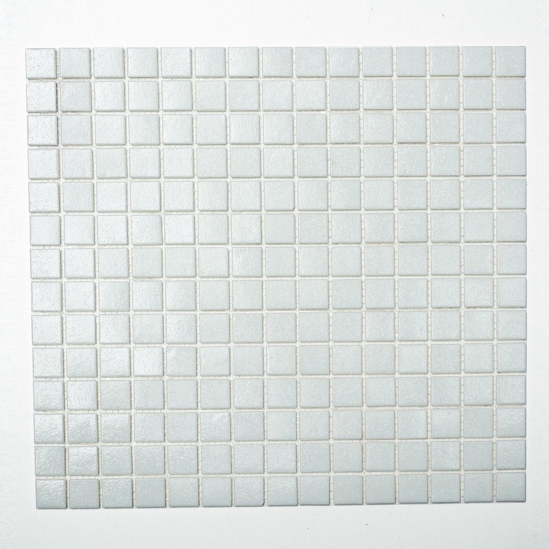 123mosaikfliesen Mosaikfliesen Fliesen Mosaik K/üche Bad WC Wohnbereich Fliesenspiegel Quadrat Glas schwarz 4mm Neu #K653
