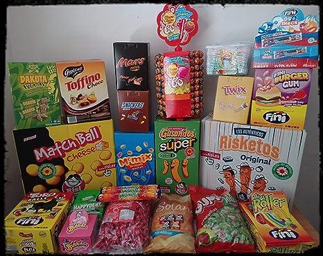 Caja con 25 artículos variados de chocolates, golosinas,caramelos ...