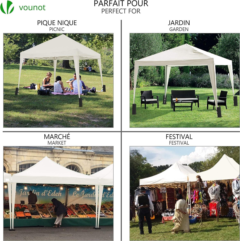 VOUNOT Gazebo Plegable Cenador 3x3 m Pabellon de Jardin ...