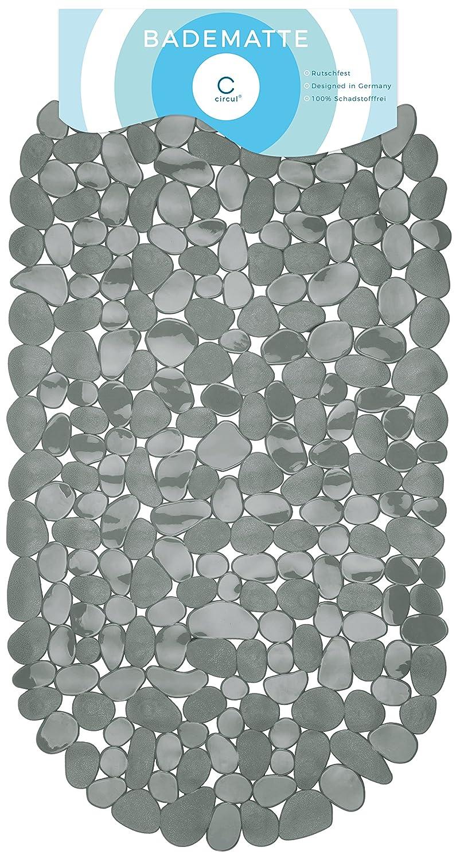 Circulation Bath Mat 68x 35cm Grey Stone Look Modern