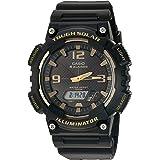Casio Men's Tough (Solar Powered) Quartz Watch with Resin Strap, Black, 21 (Model: EAW-AQ-S810W-1A3V)