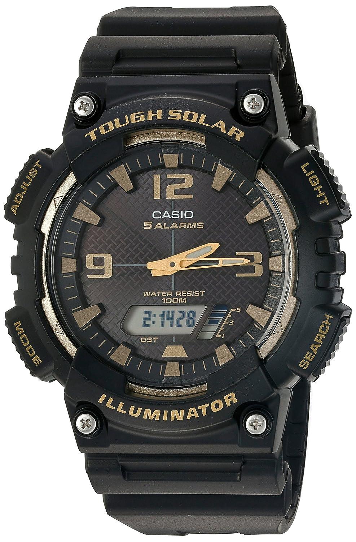 1e4db29f8b013 Amazon.com  Casio Men s  Tough Solar  Quartz Stainless Steel and Resin Watch