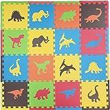 Tadpoles CPMSEV612 Set de Alfombra para Juego, 16 Piezas, dinosaurios