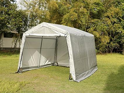 Sliverylake Auto Storage Shelter Car Garage Steel Carport Canopy Tent  (10×10×8ft