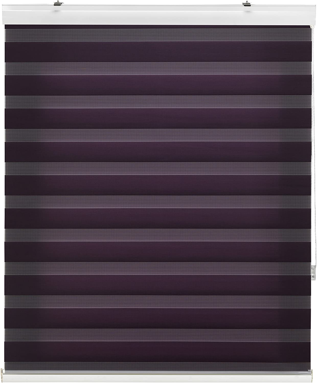 Noche y D/ía Poli/éster Blindecor Lira Luxury Estor Enrollable de Doble Capa Negro 100 x 180