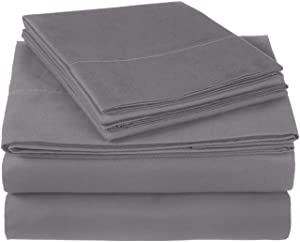 Pinzon 300 Thread Count Ultra Soft Cotton Sheet Set -King, Graphite