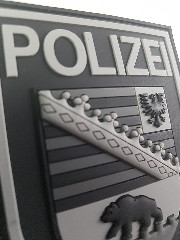 ATG /Ärmelabzeichen Polizei Sachsen-Anhalt 3 D Rubber Patch BlackOps
