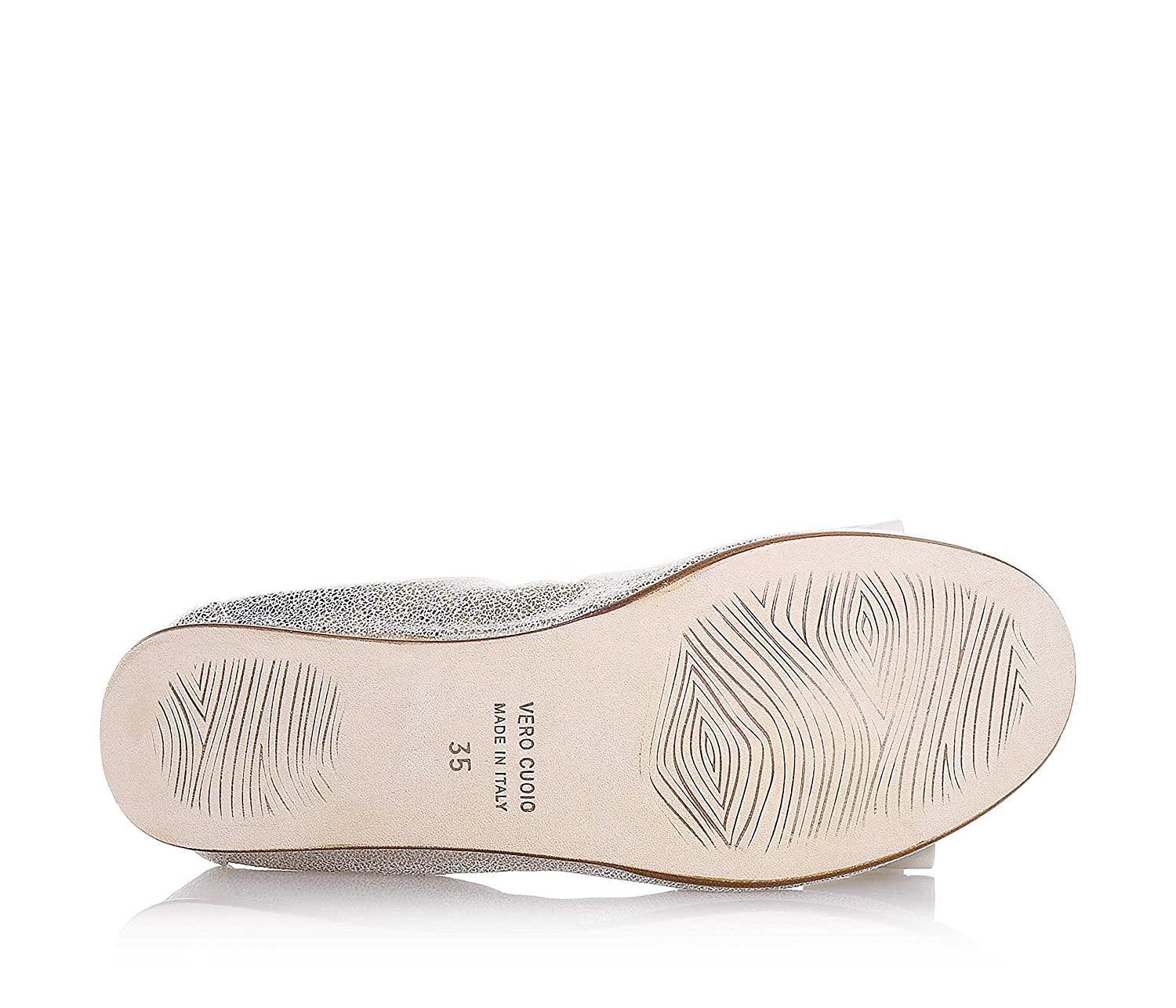 MI. Sol - Ballerine couleur platine en cuir, made in Italy, fille, femme:  Amazon.fr: Chaussures et Sacs
