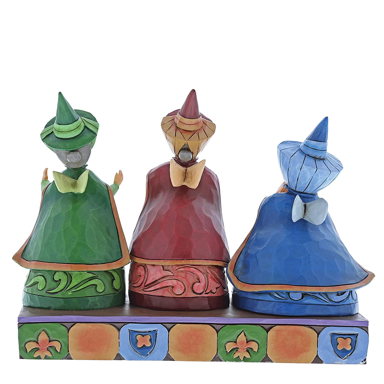 Disney Traditions Figurine des Trois Bonnes f/ées Flora 60/x 150/x 70/cm P/âquerette et Pimprenelle en r/ésine Multicolore