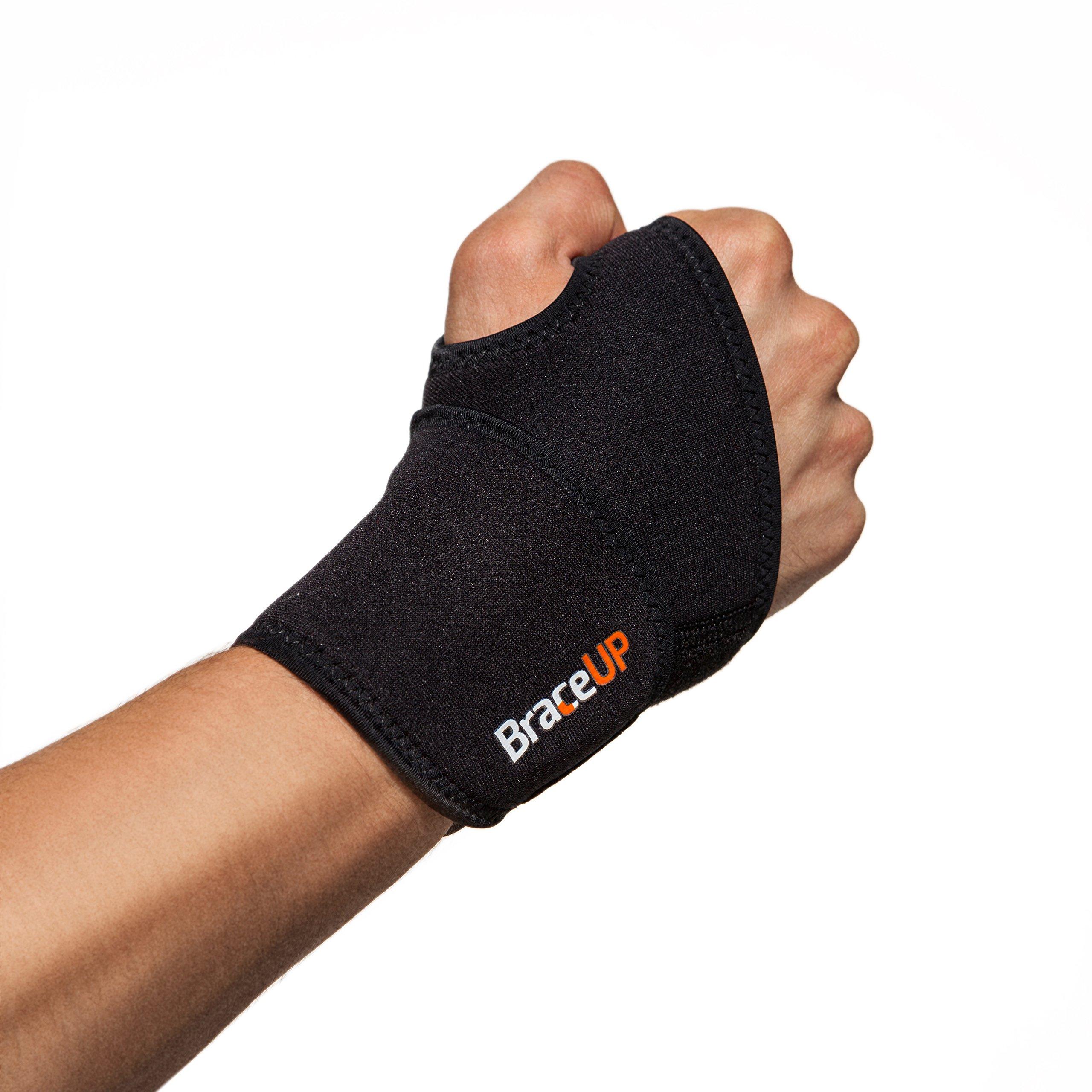 BraceUP® Adjustable Wrist Support, One Size Adjustable (Black)