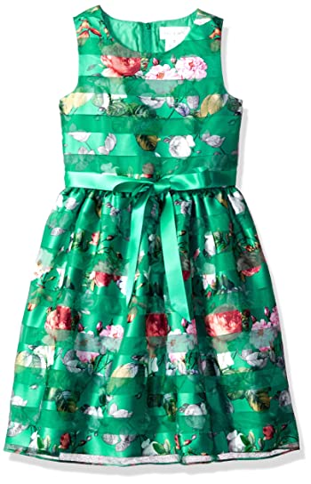 Big Girls' Floral Print Party Dress