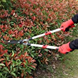 YARTTING Extendable Hedge Shears with Wavy Sharp Blade for Trimming Borders, Boxwood, and Bushes, Garden Hedge Clippers with