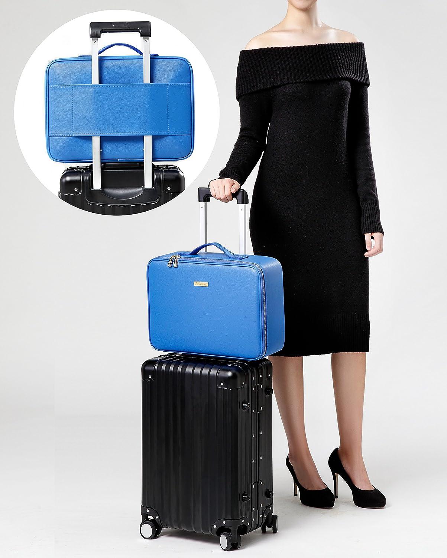 f862399e4f5f   Gifts for Women   ROWNYEON PU Leather Makeup Case Mini Makeup Bag  Portable Travel Makeup Bag EVA ...