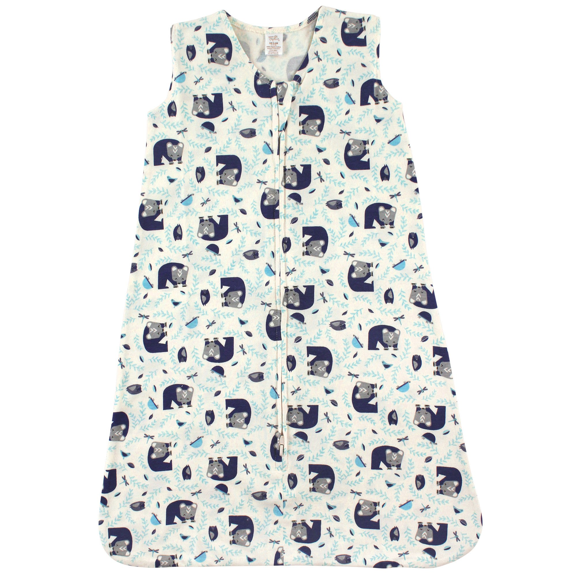 Touched by Nature Baby Organic Cotton Wearable Safe Printed Sleeping Bag, Woodland, 18-24 Months