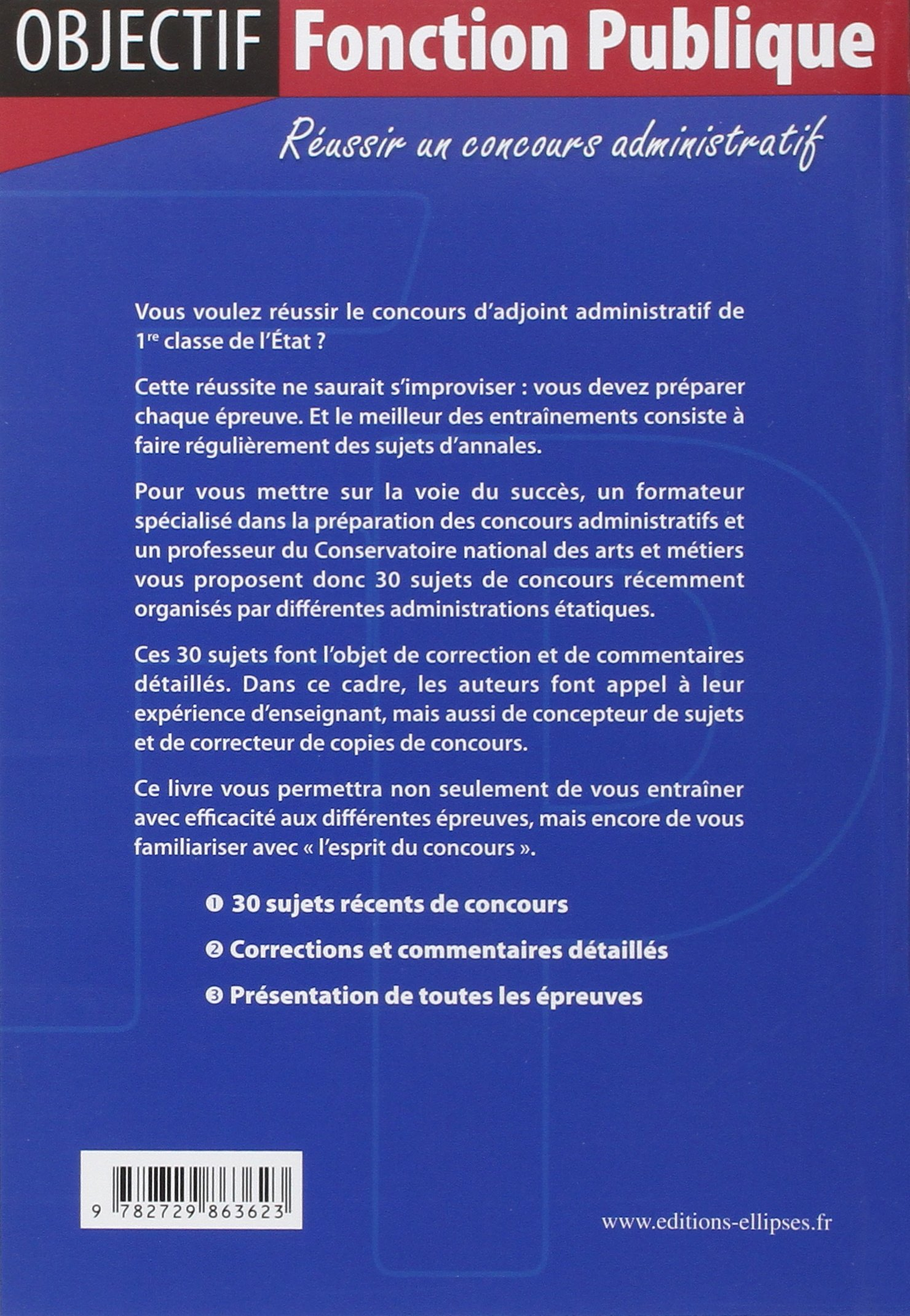 8134607cdc1 Amazon.fr - Annales Corrigées du Concours d Adjoint Administratif de 1e  Classe - Quillien - Livres