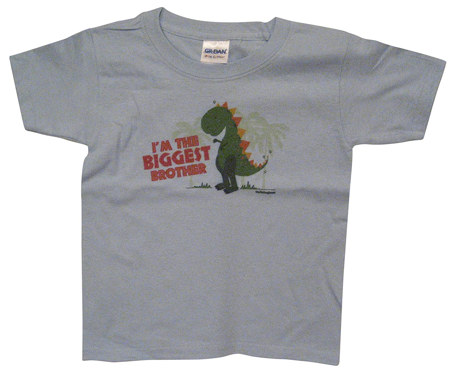 Amazon.com: Sibling Tees Dinosaur Biggest Brother Shirt-Youth T ...
