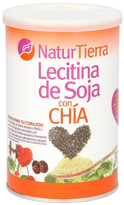 NATUR TIERRA lecitina de soja con chía bote 200 gr: Amazon.es ...