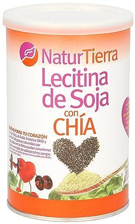 NATUR TIERRA lecitina de soja con chía bote 200 gr: Amazon ...