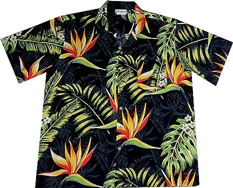 """Camisa Hawaiana/Hawaii Hombre """"Ave del Paraiso"""" / 100% algodón ..."""