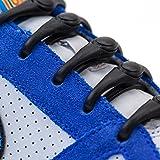 HICKIES Kids Elastic No Tie Shoelaces - Black (Pack Of 10 Laces, Works In All Sneakers)