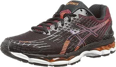 ASICS Gel-Nimbus 17 - Zapatillas de deporte para hombre, color negro (black/hot orange/deep ruby), talla 40.5 EU (6.5 UK): Amazon.es: Zapatos y complementos