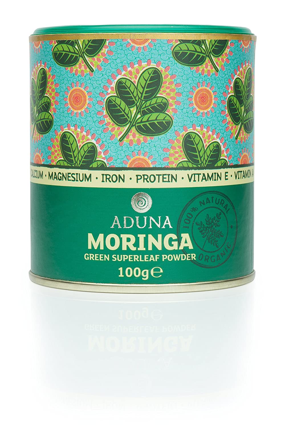 Aduna Organic Moringa Green Superleaf Premium Blend Powder 100g