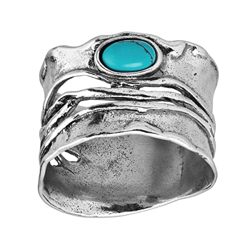 Silpada Sanguine Compressed Turquoise Ring in Sterling Silver