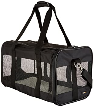 5790575cc1c AmazonBasics Black Soft-Sided Pet Carrier - Large: Amazon.ca: Pet Supplies