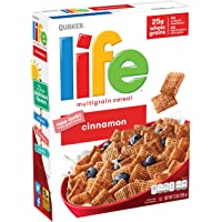 3-Pack Quaker Life 13oz Cinnamon Cereal Boxes