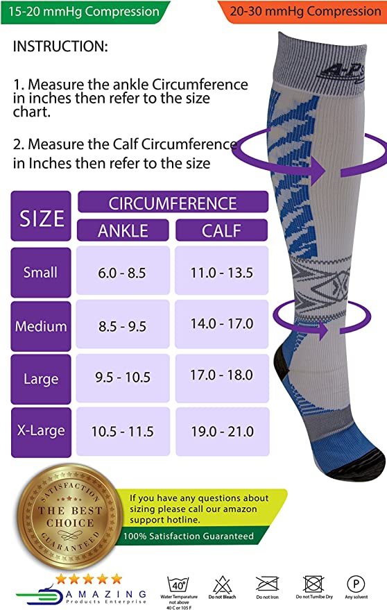 Amazon Com New Generation Compression Socks 15 20 Mmhg For Men Women Best Graduated Pressure Stocking Support Circulation Socks Athletic Fit For Running Socks Nurses Maternity Pregnancy Flight Travel Health