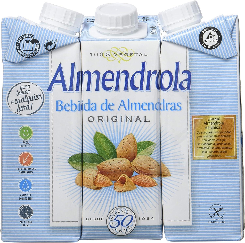 Almendrola - Bebida Vegetal de Almendras Original - Caja de 8 ...