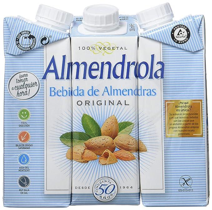 Almendrola - Bebida Vegetal de Almendras Original - Caja de 8 packs de 3x250ml