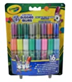 Crayola; Mini Washable Glitter Glue; Art Tools; 16 ct.; 16 Sparkly Colors; Great for Arts and Crafts