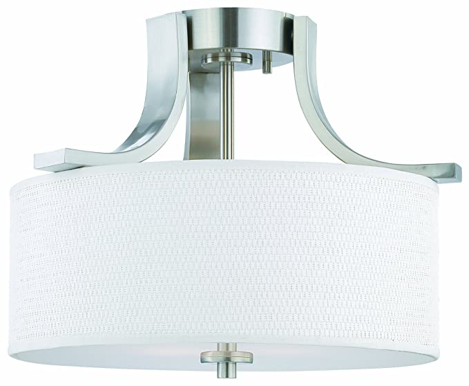 Thomas Lighting Sl860978 Pendenza Collection 2 Light Semi Flush Brushed Nickel Close To Ceiling Fixtures Com