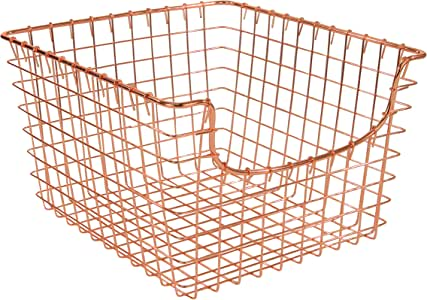Spectrum Diversified Scoop wire Storage Basket, Medium, Copper