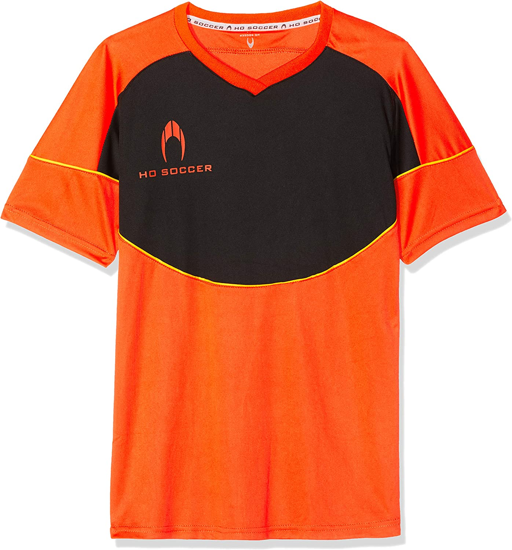 HO Soccer Legacy Camiseta de Portero Manga Corta, niños, Naranja/Negro/Lima, 14 años: Amazon.es: Ropa y accesorios