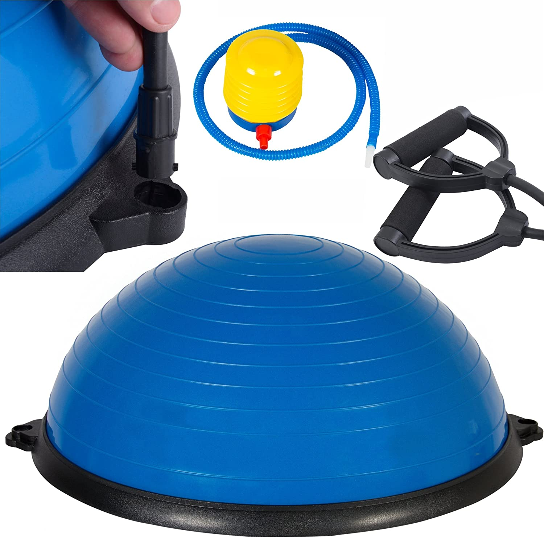 Sursector blau 58,4 cm Yoga Ball Balance Trainer Yoga Fitness Pilates Stärke Widerstandsband Bands, neuen blau W/Air Pumpe von sursector