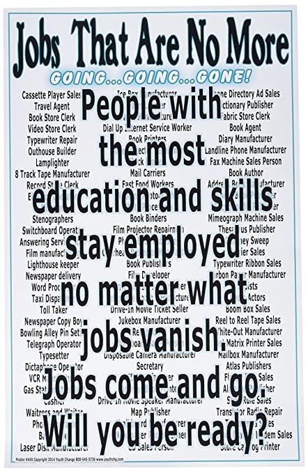 poster 445 amazing motivational classroom poster lists jobs that are no more
