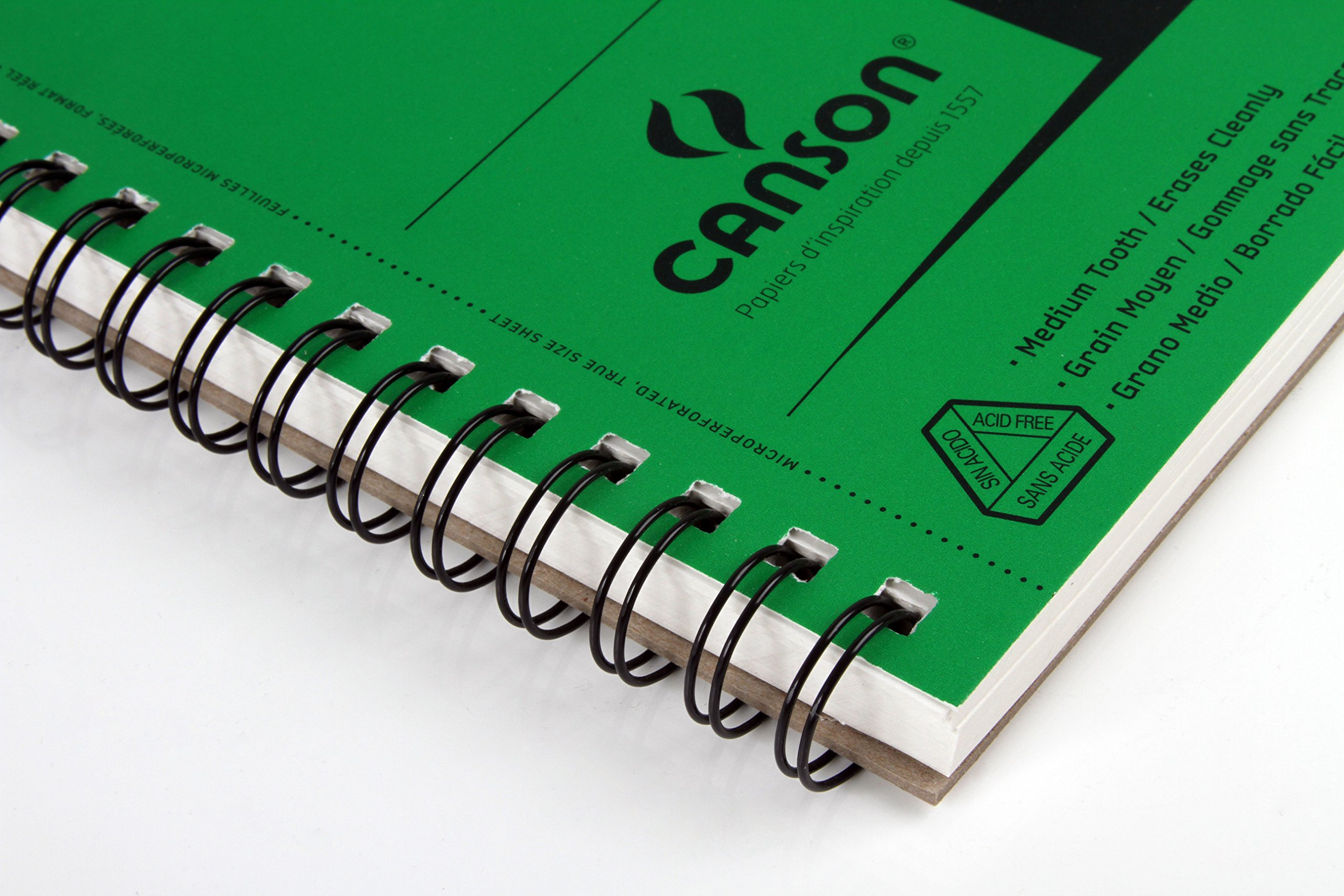 Canson XL Series Recycled Paper Sketch Pad, Side Wire Bound, 50 Pound, 9 x 12 Inch, 100 Sheets by Canson (Image #3)
