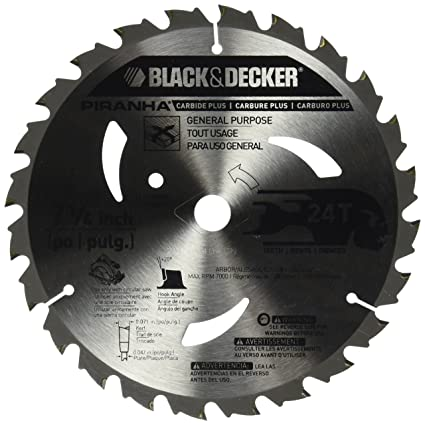 Blackdecker pr824 24t 7 14 inch carbide saw blade circular saw blackdecker pr824 24t 7 14 inch carbide saw blade greentooth Image collections