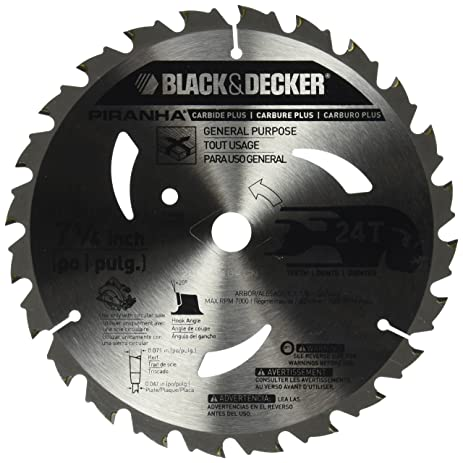 Black decker pr824 24t 7 14 inch carbide saw blade circular black decker pr824 24t 7 14 inch carbide saw blade greentooth Choice Image