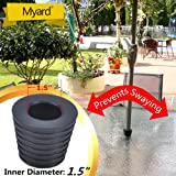 """MYARD Umbrella Cone Wedge fits Patio Table Hole Opening or base 2 to 2.5 Inch, & Pole Diameter 1 1/2"""" (38mm, Black)"""