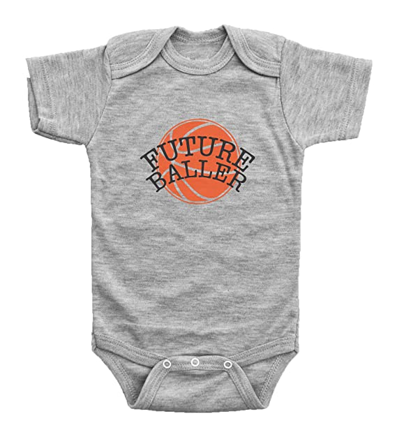 c0f5f8ce4c4 Baffle Future Baller/Humor Baby Basketball Onesie for Boys or Girls/Bodysuit  (Newborn