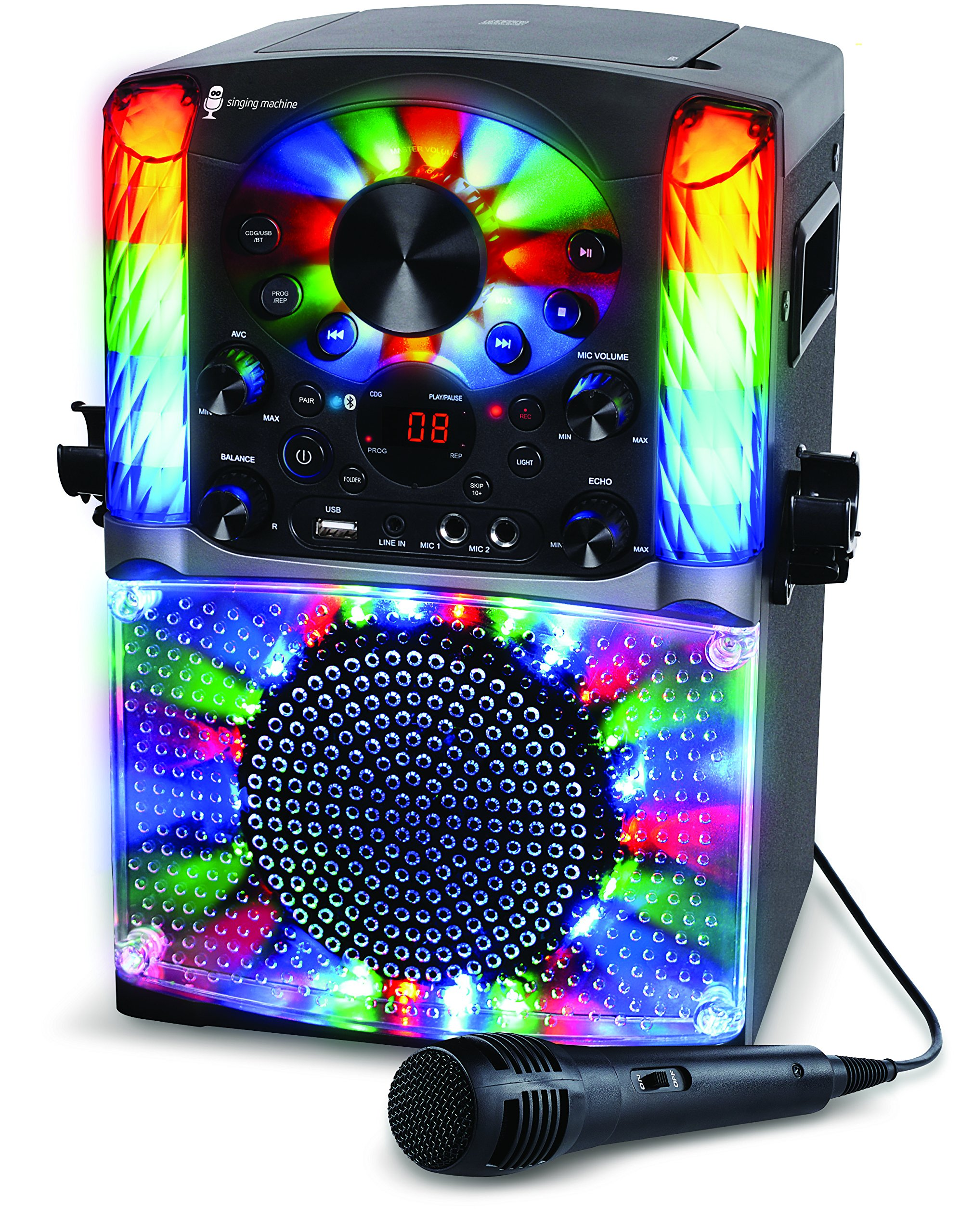 Singing Machine SML625BTBK Bluetooth CD+G Karaoke System Black by Singing Machine (Image #4)