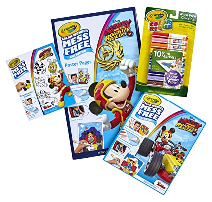 Crayola Color Wonder Mess Free Mickey Mouse Bundle 18 Coloring Pages 15 Poster